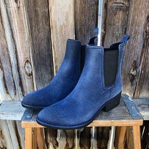 Havana Last Jeffrey Campbell blue suede boots